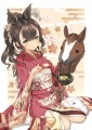 2014 あけおめパペット娘:馬