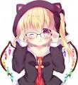 黒猫耳パーカー眼鏡フランちゃん